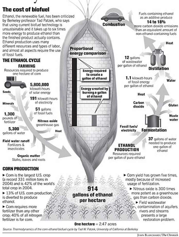 The Cost of Biofuel. Chronicle graphic by John Blanchard