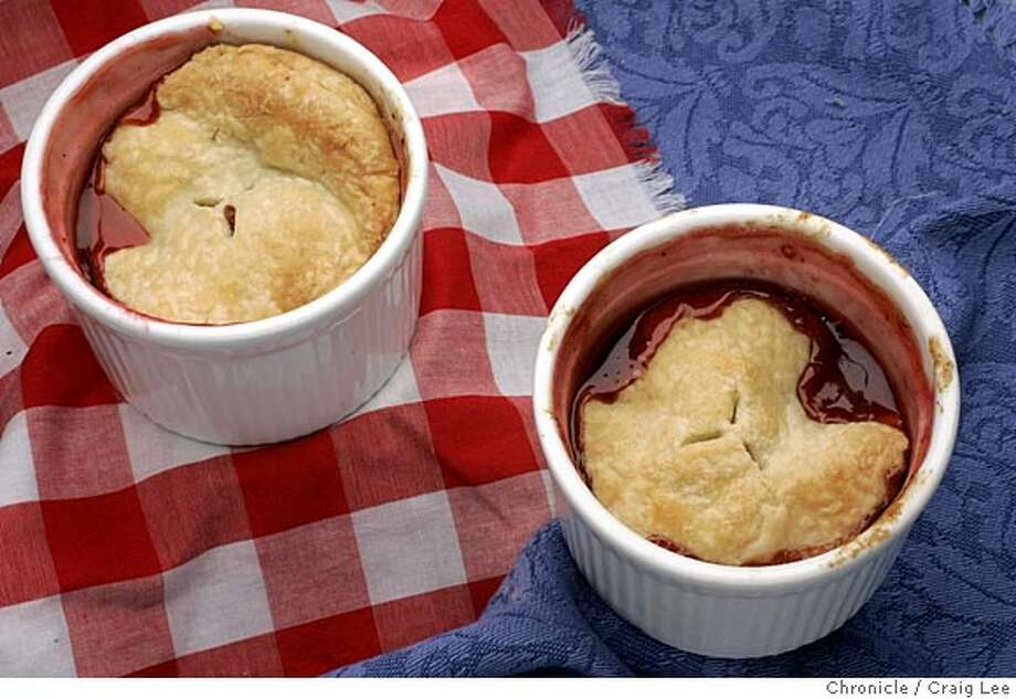 Flag Raising Fresh Fruit Pot Pie. For Flo Braker's The Baker column, pre-July 4th. Food styled by Amanda Gold.  Event on 6/23/05 in San Francisco. Craig Lee / The Chronicle Photo: Craig Lee