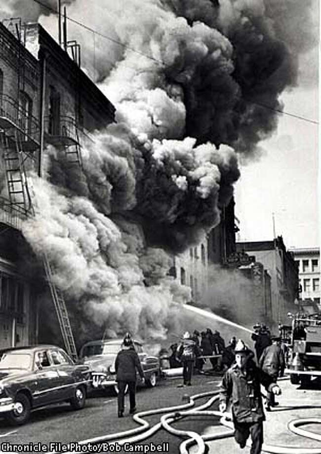 FIRE CHINATOWN APRIL 1 1953 PHOTO BY BOB CAMPBELL CHRONICLE