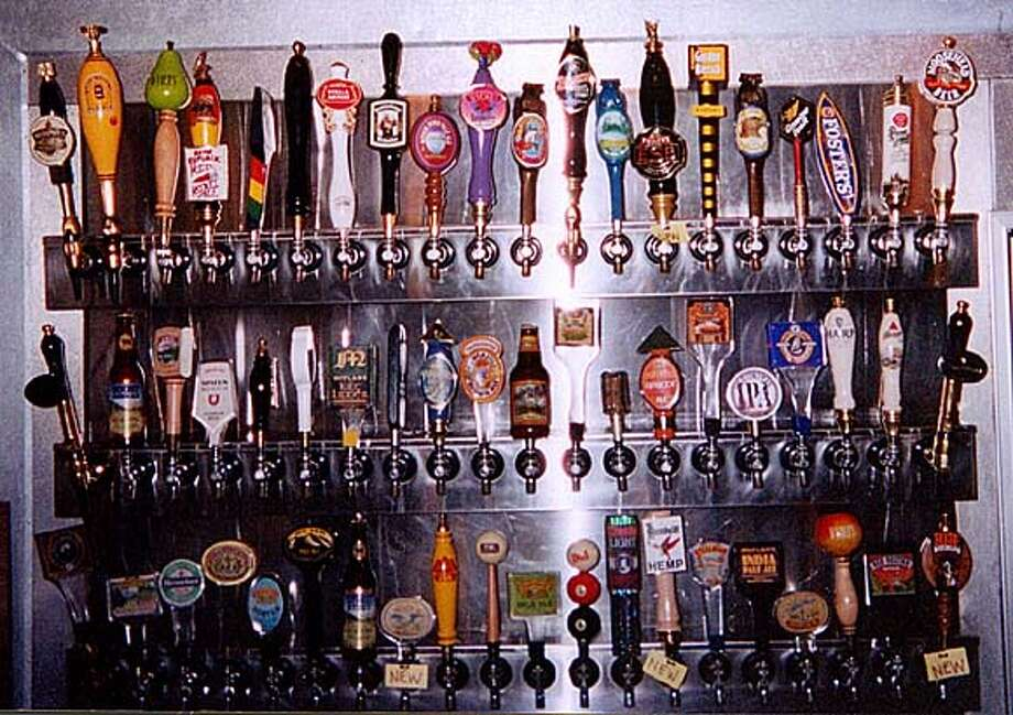 There are 60 beers on tap at Billco's, a Napa pool hall.