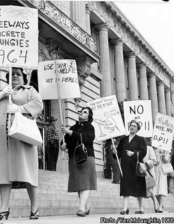 Potrero Freeway protest March 22, 1966. Photo / Ken McLaughlin, 1966