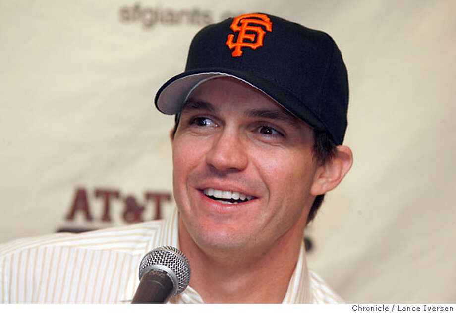 GIANTS_0651.JPG  The San Francisco Giants introduced its new star pitcher Barry Zito to the Bay Area media Wednesday. January 3, 2007  SAN FRANCISCO.  By Lance Iversen/San Francisco Chronicle Photo: By Lance Iversen