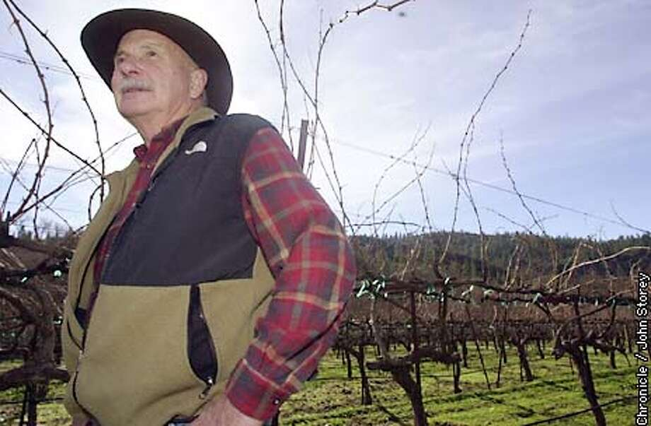 MURPHYS-C-03JAN02-MT-JRS-Story about the town of Murphys and how it is weathering the recession. Winemaker Barden Stevenot walks through his vineyards next to his winery. Chronicle photo by John Storey. Photo: John Storey