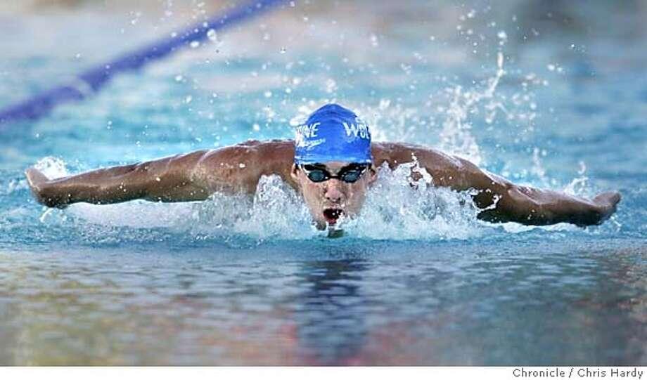 santaclaraswim_ch_12.jpg  Santa Clara Swim Club International Invitational Swim Meet with  Michael Phelps in the 200 meter individual medley  in Santa Clara  6/26/05 Chris Hardy / San Francisco Chronicle Photo: Chris Hardy