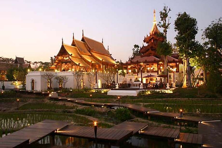 The Lanna culture of Southeast Asia inspired the Mandarin Oriental resort in Chiang Mai, Thailand. Courtesy of Mandarin Oriental Dhara Devi