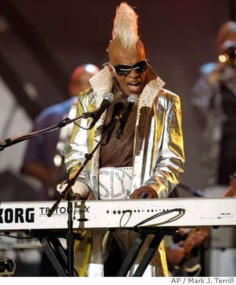 Sly Stone from the group Sly and the Family Stone performs at the 48th Annual Grammy Awards on Wednesday, Feb. 8, 2006, in Los Angeles. (AP Photo/Mark J. Terrill) Photo: MARK J. TERRILL