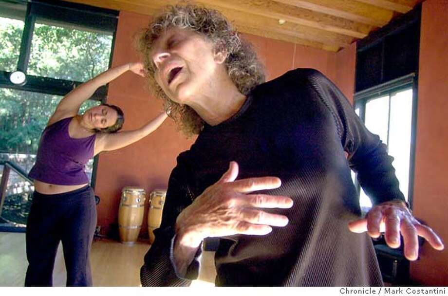 �HEALING01A-C-16NOV02-LV-MC -- Story on Anna Halprin, shown here teaching a dance class at her Marin County Studio. She's an-80-something-year-old woman who does a lot of work with using dance as a healing artform. She works with a lot of people w/ life-threatening illnesses. She is a cancer survivor herself. Photo Mark Costantini/SF Chronicle. CAT Photo: MARK COSTANTINI