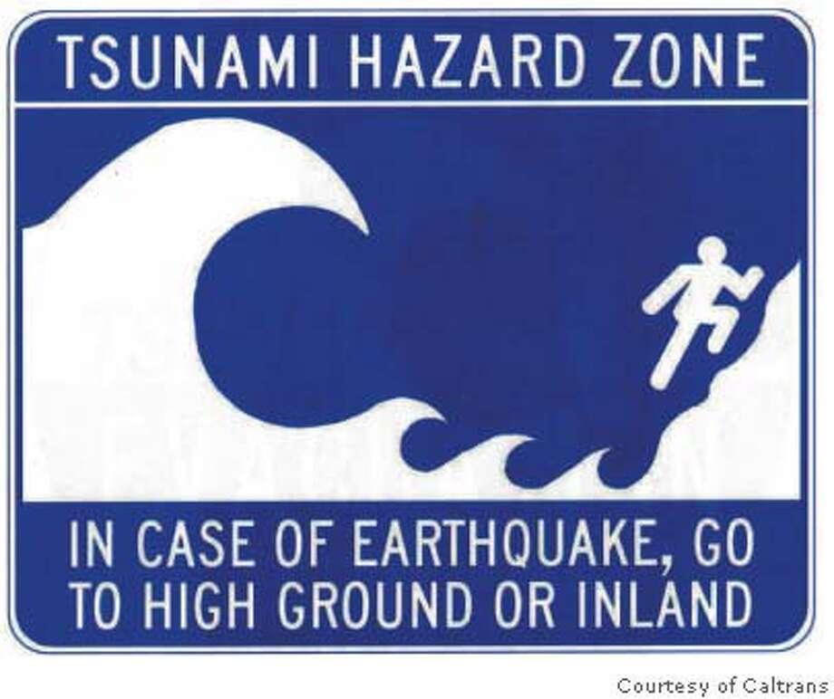 california caltrans may post signs on tsunami evacuation