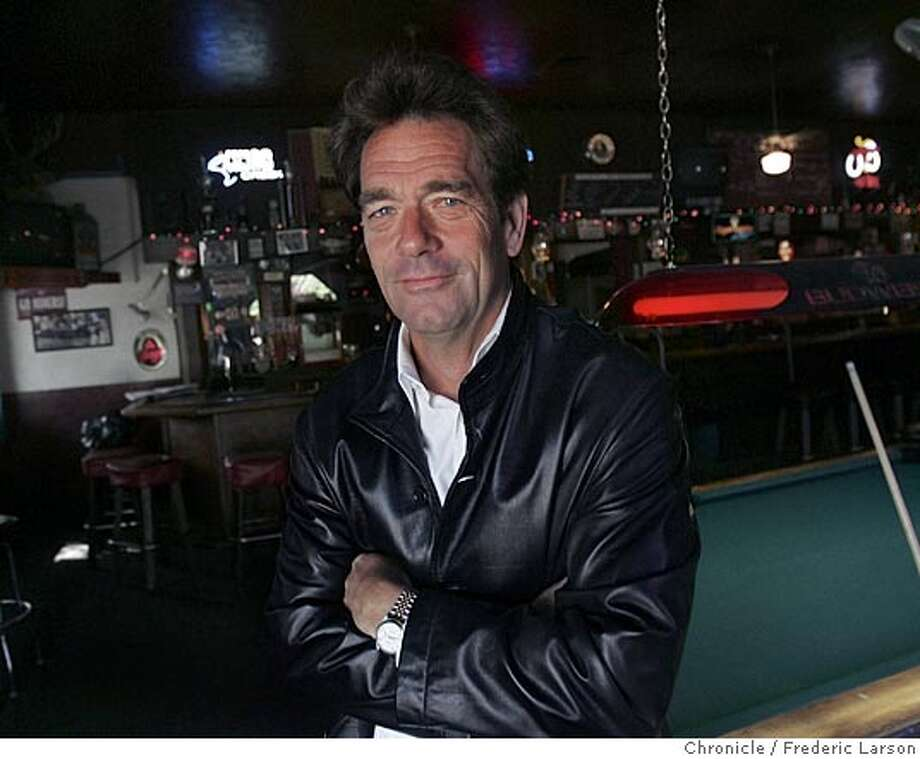 "NBLEWIS002_fl.jpg Huey Lewis at the ""2am Club"" in Mill Valley, Huey's old watering hole which the bar was featured on the cover of the Huey Lewis and the News LP ""Sports."" Huey Lewis and the News will be performing at the Marin County Fair the summer of 2005. 5/31/05 Mill Valley CA Frederic Larson The San Francisco Chronicle Photo: Frederic Larson"