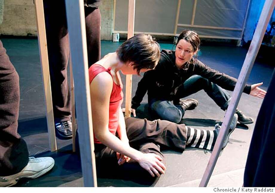 "SHUCH036_RAD.JPG Profile on Erika Shuch, who is shown working with her dancers at the Intersection on Valencia St. in San Francisco. The name of the dance they're working on is ""one window."" Photo taken on 3/21/05, in San Francisco, CA.  By Katy Raddatz / The San Francisco Chronicle Erika Shuch creates dances with startling, surprising results. MANDATORY CREDIT FOR PHOTOG AND SF CHRONICLE/ -MAGS OUT Photo: Katy Raddatz"