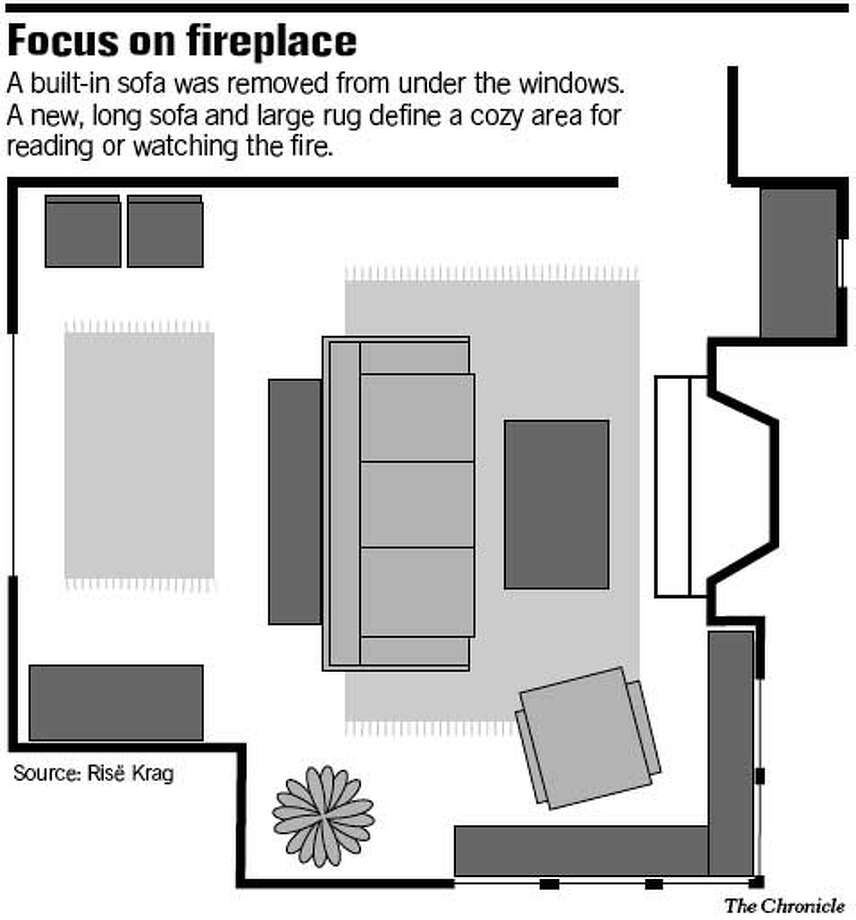 Focus on Fireplace. Chronicle Graphic