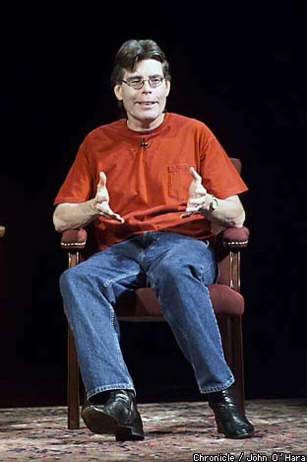 Stephen King gave a lecture about writing at Herbst Theatre in 2000, the year after he was hit by a minivan. Chronicle photo by John O'Hara