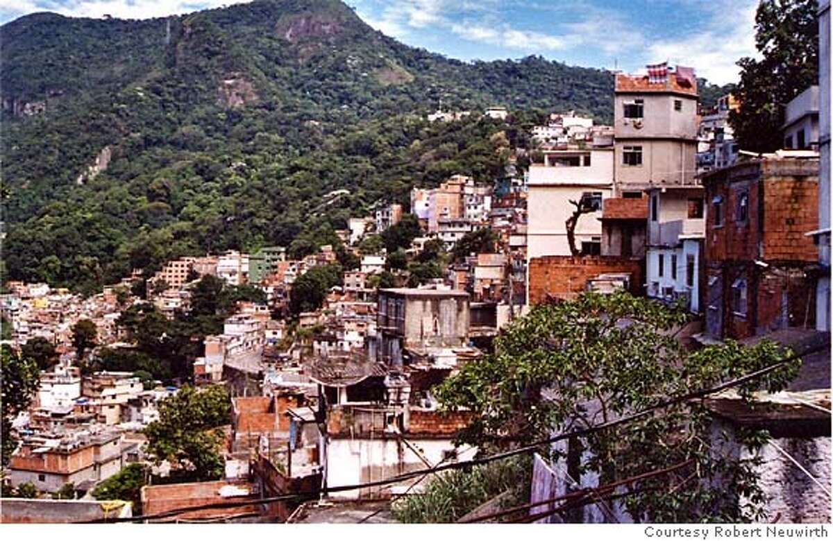Rocinha, Rio de Janeiro's largest favela, or squatter community, is a hilltown of towers. Photo: Courtesy Robert Neuwirth