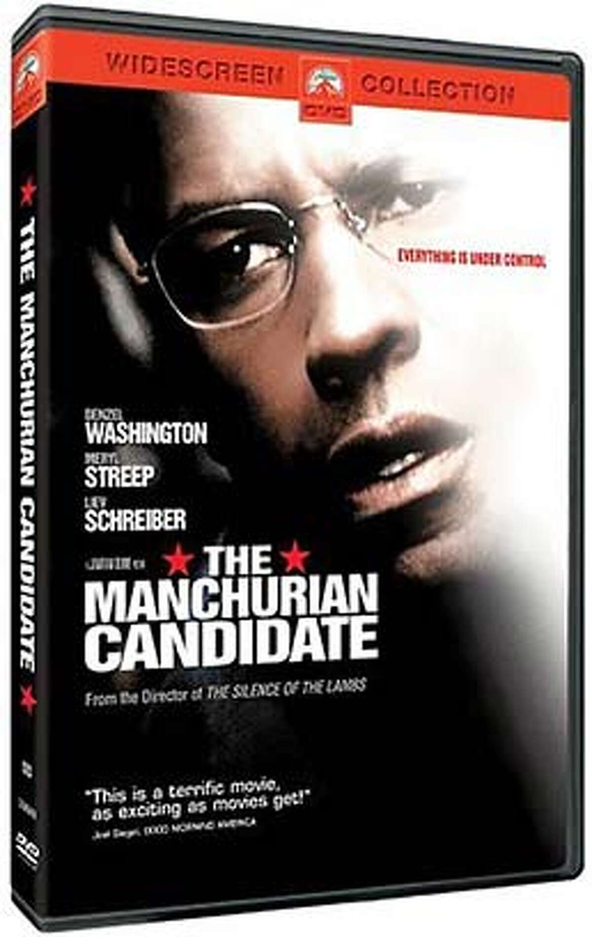 """DVD cover art for, """"The Manchurian Candidate"""" DVD."""