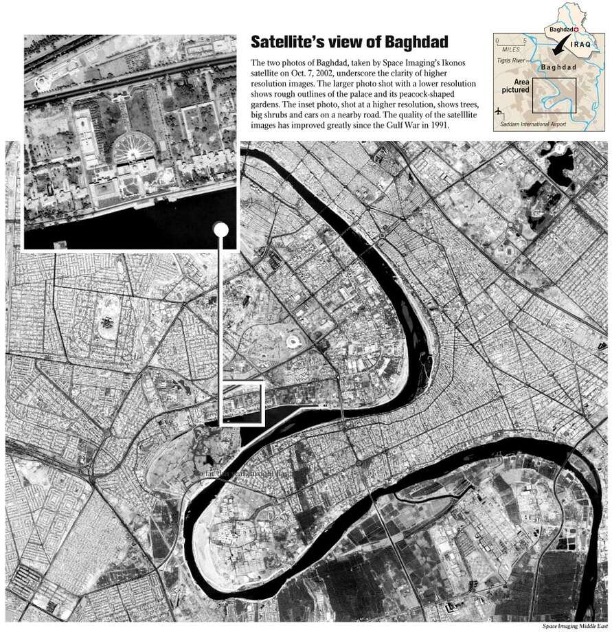 Satellite's View of Baghdad - Space Imaging Middle East