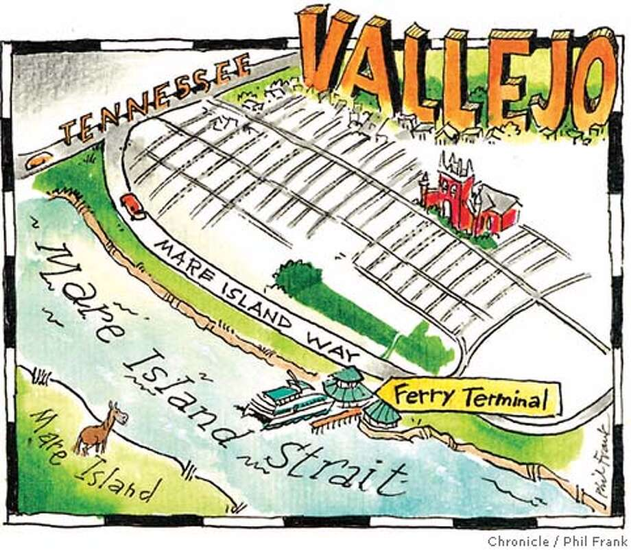 Vallejo. Chronicle illustration by Phil Frank