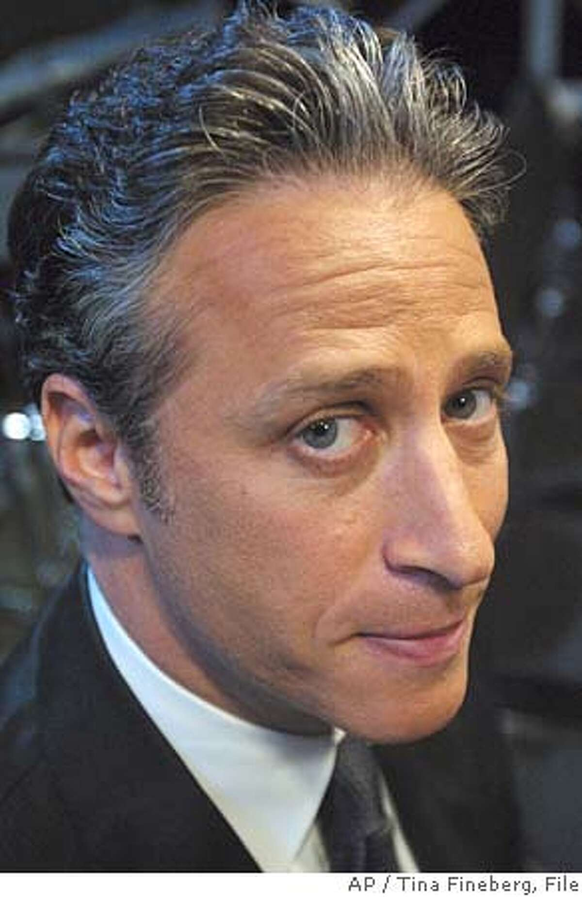 **FILE**Comedian Jon Stewart poses on the set of Comedy Central's