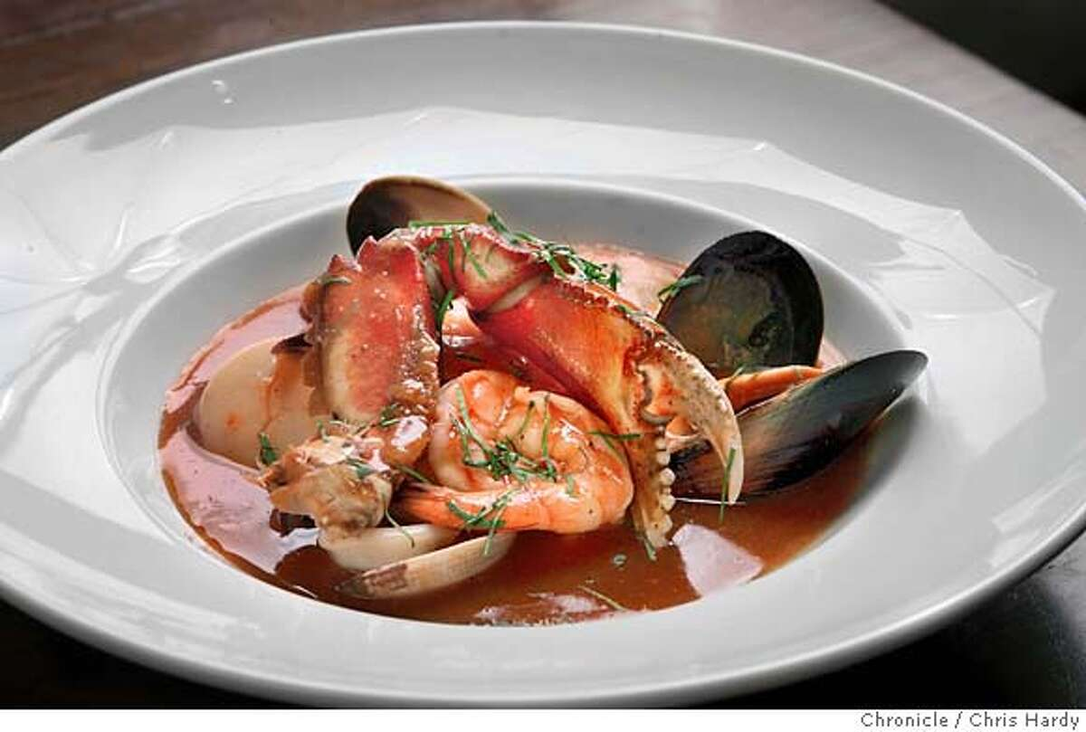 Pictures of Limon, the Peruvian restaurant . Parhuela seafood stew, in San Francisco,CA on 11/17/04 San Francisco Chronicle/Chris Hardy