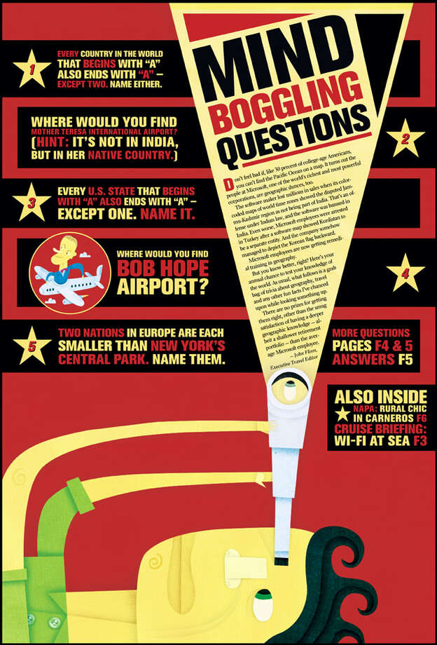 Mind Boggling Questions (Part 1). Illustration by A. Skwish, special to the Chronicle