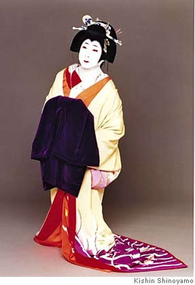 Living National Treasure Nakamura Ganjiro III performs his signature role of O-hatsu with Chikamatsu-za troupe of the revered Grand Kabuki Theatre, as it makes a rare U.S. tour stop at Cal Performances June 17 & 18, 2005. PHOTO: KISHIN SHINOYAMO Photo: KISHIN SHINOYAMO