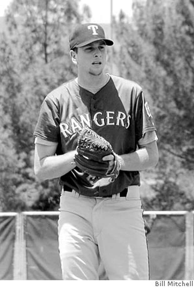 Scott Feldman of Burlingame, a former College of San Mateo standout, pitches for the Texas Rangers' AA team. Photo by Bill Mitchell Photo: Photo By Bill Mitchell