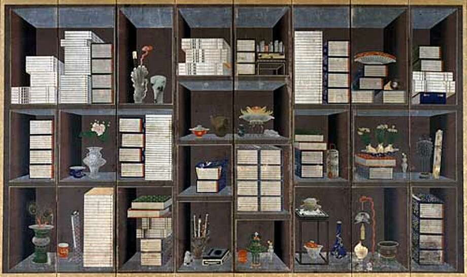 THIS IS A HANDOUT IMAGE. PLEASE VERIFY RIGHTS. Scholar�s accouterments, approx. 1860�1874 By Yi Eung-nok (1808�after 1874) Korea  Joseon dynasty (1392�1910)  Eight-panel folding screen, ink and colors on paper  Acquisition made possible by the Koret Foundation, the Korean Art and Culture Committee, and the Connoisseurs� Council; remounting funded by the Society for Asian Art, 1998.111 HANDOUT PHOTO/VERIFY RIGHTS AND USEAGE Photo: HANDOUT