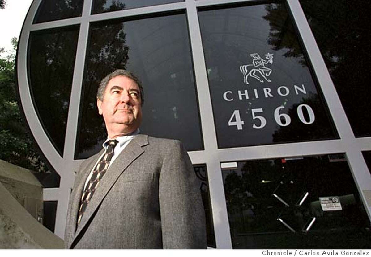 CHIRON/C/08JAN98/BU/CG --- Chiron Corporation's CEO Ed Penhoet, who announced a year ago he was stepping down as the company tries to maintain its mission as an entrepreneurial , science-driven health company. Chiron is still looking for a new CEO. (CHRONICLE PHOTO BY CARLOS AVILA GONZALEZ)