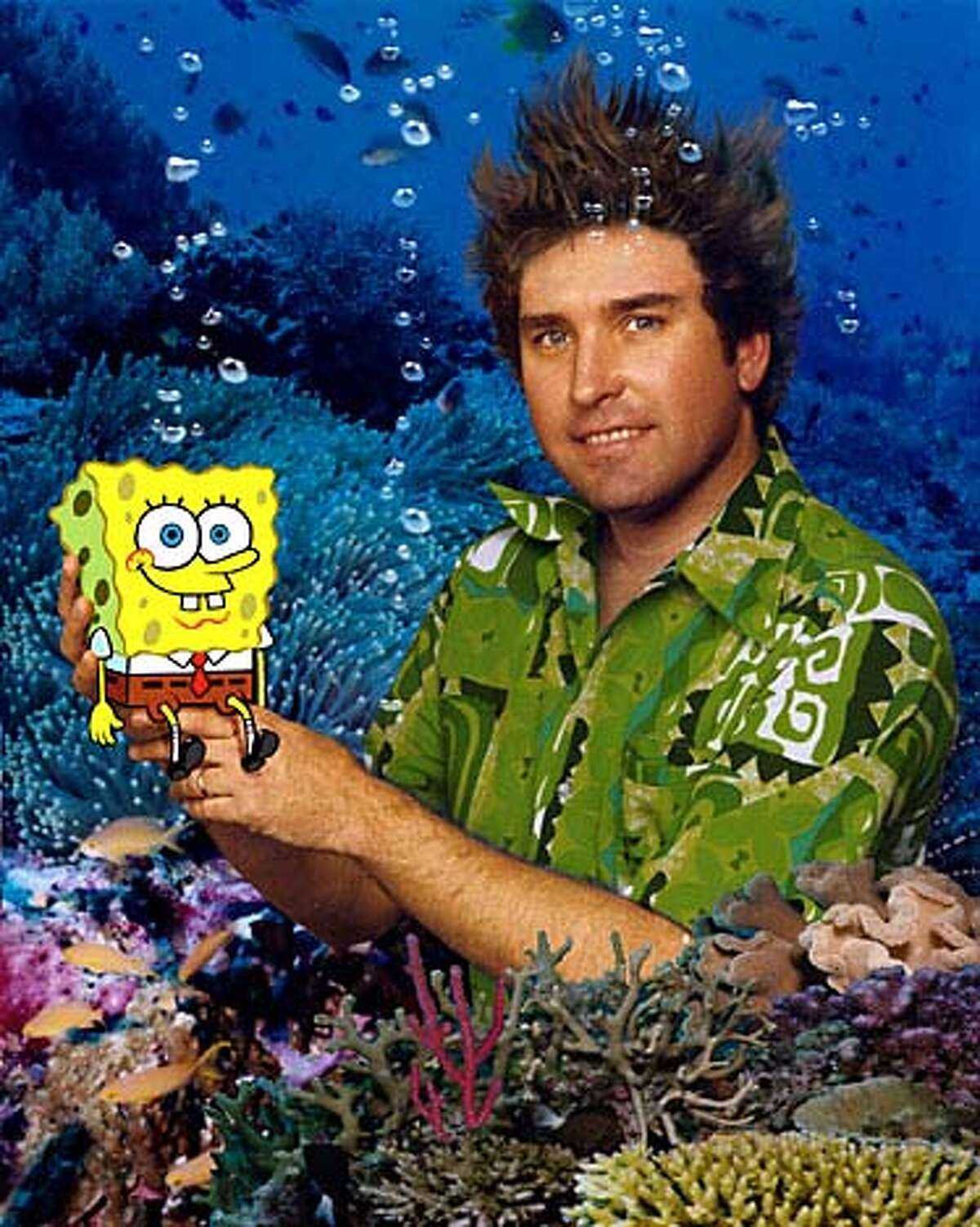 SpongeBob and his friend and creator, Steve Hillenburg, answer the question: How do you go to the beach when you're underwater?