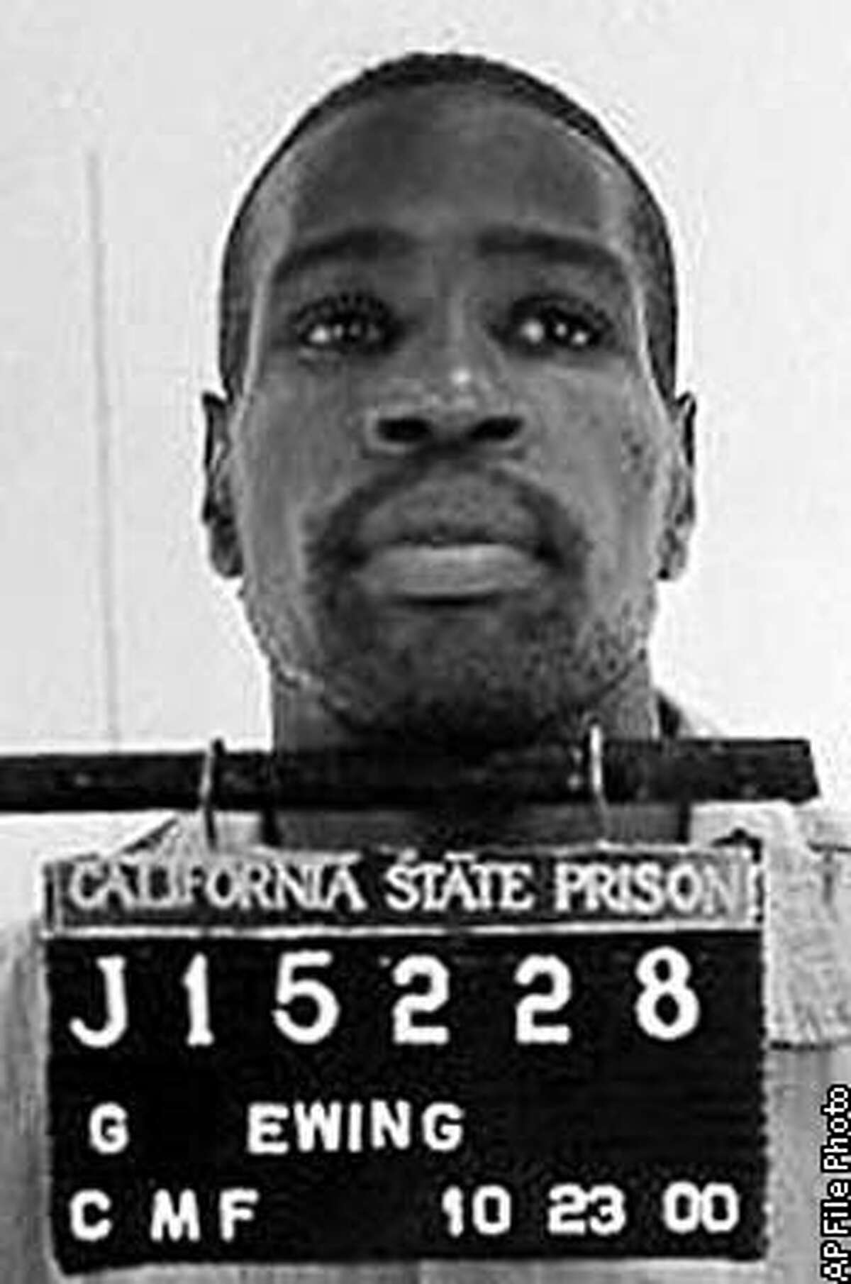 **FILE** This is an undated California Department of Corrections photo of Gary Ewing. The Supreme Court on Wednesday, March 5, 2003, upheld long sentences meted out under the nation's toughest three-time offender law, ruling that a prison term of 25 years to life is not too harsh for Ewing, a small-time thief who shoplifted golf clubs. Ewing is serving the sentence after stuffing three golf clubs down his pants at a golf course in 2000. (AP Photo/Calif. Department of Corrections)