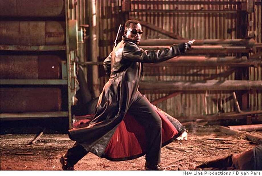 "Wesley Snipes returns as ""Blade"" in New Line Cinema's third installment of the BLADE series, BLADE TRINITY.  Photo Credit: �2004 Diyah Pera/New Line Productions Ran on: 12-05-2004 Blade Trinity Photo: Diyah Pera"