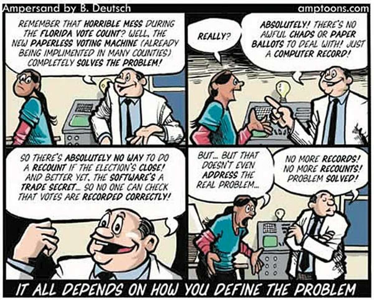 Cartoon courtesy of B. Deutsch of Amptoons.com