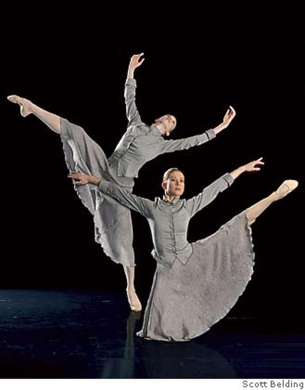 Moving Arts Dance members Holly Morrow and Amanda McGovern in Viktor Kabaniaev's Largo. Photo: Courtesy of Scott Belding