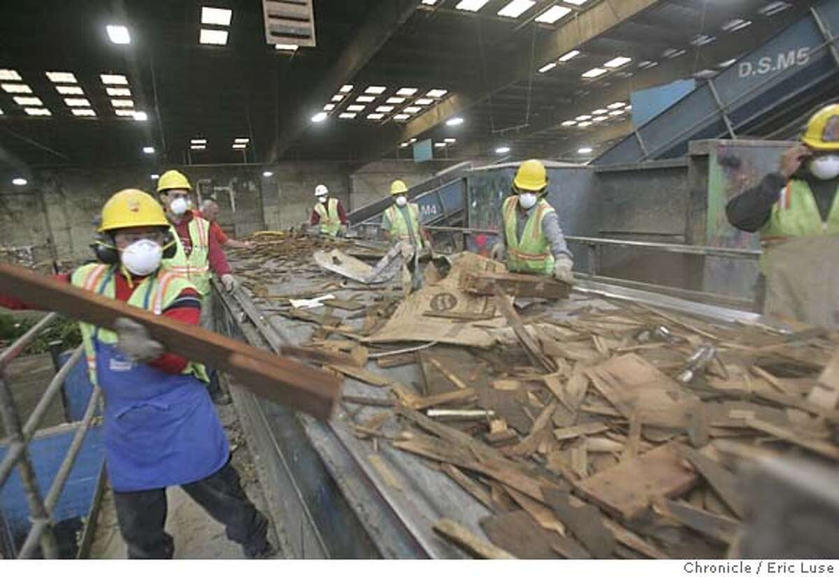 waste31_039_el.JPG Workers on the sorter machine going through various types of recycle material JOE GARBARINO at the Marin Resource Recovery Center (the dump) story on waste reduction for world environmental day. the location, the marin resource recovery center, has a