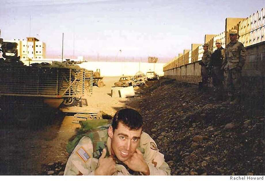 Photo of Emmet Howard in Iraq. Photo: Courtesy of Rachel Howard