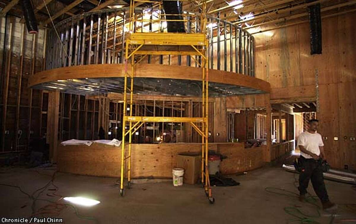The new Fenton's will feature a curved counter. The reconstruction of Fenton's Creamery on Piedmont Ave. in Oakland is nearing completion and is slated for reopening in mid to late March. PAUL CHINN/SF CHRONICL