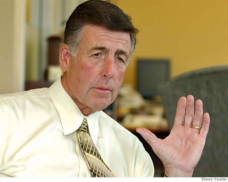 Sutter Health CEO Van Johnson talks about the future of health care and his company in his office at the Sutter Health headquarters in Sacramento, Calif., on Monday, May 2, 2005.(Photo/Steve Yeater)
