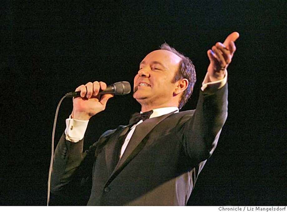 """Event on 12/5/04 in San Francisco. Actor Kevin Spacey, doing Bobby Darin's act at Bimbos 365 Club in a brief tour at nightclubs across the country. He is promoting his new movie """"Beyond the Sea."""" Liz Mangelsdorf / The Chronicle Photo: Liz Mangelsdorf"""