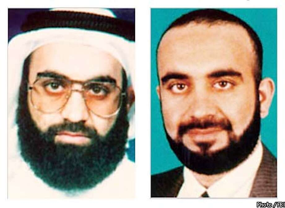 ** FILE ** Khalid Shaikh Mohammed is shown in these undated FBI handout photos. Mohammed, the suspected mastermind of Sept. 11, 2001 terror attacks in the United States, was arrested Saturday, March 1, 2003, in Pakistan, a senior Pakistan government source told The Associated Press.(AP Photo / FBI)