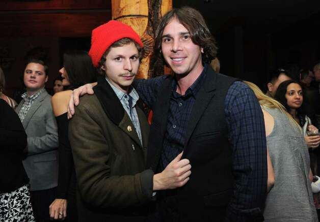 """Michael Cera and Benjamin Flajnik attend the """"End of Love"""" premier party during the 2012 Sundance Film Festival on January 20, 2012. Photo: Jason Kempin, Getty Images / 2012 Getty Images"""