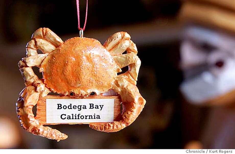 In the Tide Warf Souvenir Shop you can buy crab Christmas ornaments.  It's crab season in Bodega Bay. 11/18/04 in BODEGA BAY,CA.  KURT ROGERS/THE CHRONICLE Photo: KURT ROGERS