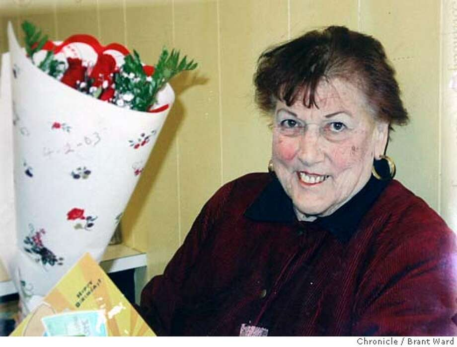 A picture of Ellen Gutierrez, friends say is only a couple years old before she lost a lot of weight.  Ellen Gutierrez was a fixture on Mission Street near 19th. She was a very friendly woman, who became somewhat senile the last few years. According to friends, a group of men moved into her apartment at 2265 Mission Street and took over. She was allegedly given drugs and forced to allow the men to use her home as a base for illegal activities.  Brant Ward 5/24/05 Photo: Brant Ward