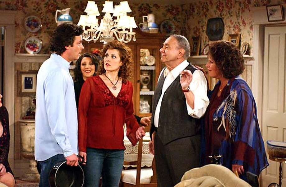 "Steven Eckholdt, Nia Vardalos, Michael Constantine and Lainie Kazan in ""My Big Fat Greek Life."""