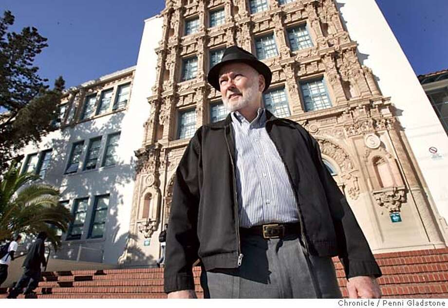Tim Kelley is pres. of the city's landmark commission. Wants Mission High to be an official landmark with some other schools.  Photo taken by Penni Gladstone/The San Francisco Chronicle  Photo taken on 11/24/04, in San Francisco, CA. Photo: Penni Gladstone