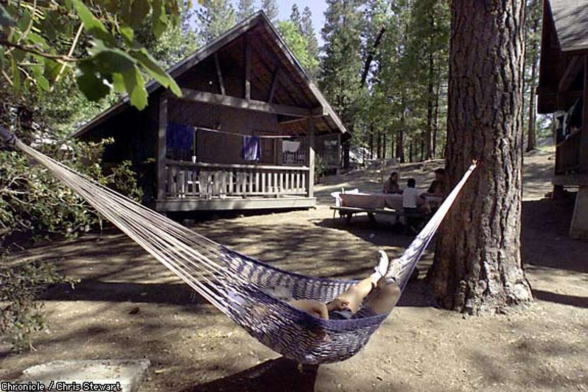 A guest unwinds from a busy day of doing nothing at Camp Mather, located near Yosemite National Park. Chronicle photo by Chris Stewart
