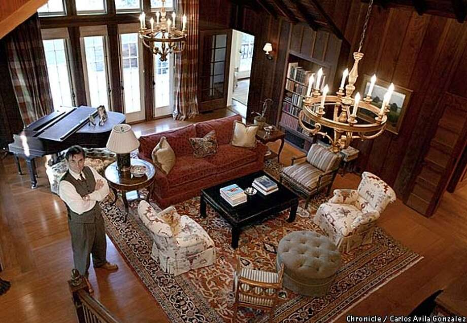 David Birka-White stands in the living room of his family's Diablo home on Monday, February, 3, 2003, where it is believed that President Herbert Hoover addressed a local womens' group. The home was once a summer home for a wealthy family, as were many in the area. The Birka-Whites restored the home and added on several rooms to accommodate their family. (BY CARLOS AVILA GONZALEZ/THE SAN FRANCISCO CHRONICLE) Photo: CARLOS AVILA GONZALEZ