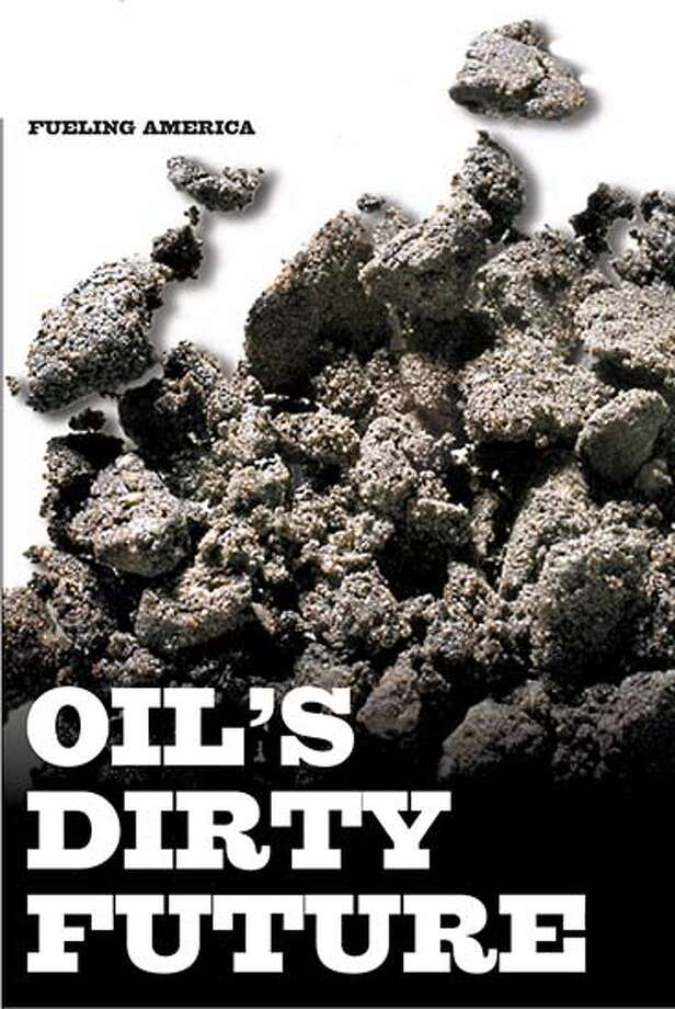 Refining oil sands is difficult and expensive because the oil must be extracted from sand and clay. But with oil prices on the rise, mining Canada's vast reserves has become profitable. Chronicle photo by Brant Ward