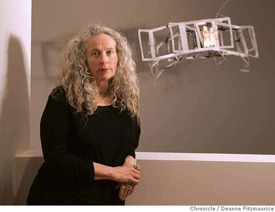 Kiki Smith, sculptor, is on hand at the new de Young Museum in Golden Gate Park as her commissioned work is hung.  San Francisco Chronicle photo by Deanne Fitzmaurice Photo: Deanne Fitzmaurice