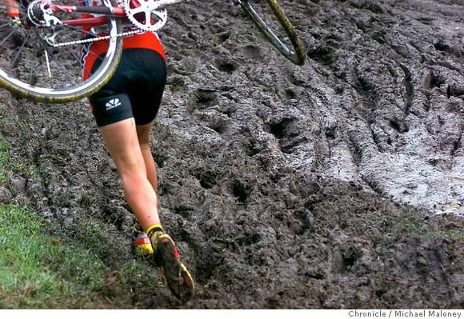 There�s a reason cyclo-cross racers duct tape their shoes to their feet. Chronicle photo by Michael Maloney Photo: Michael Maloney