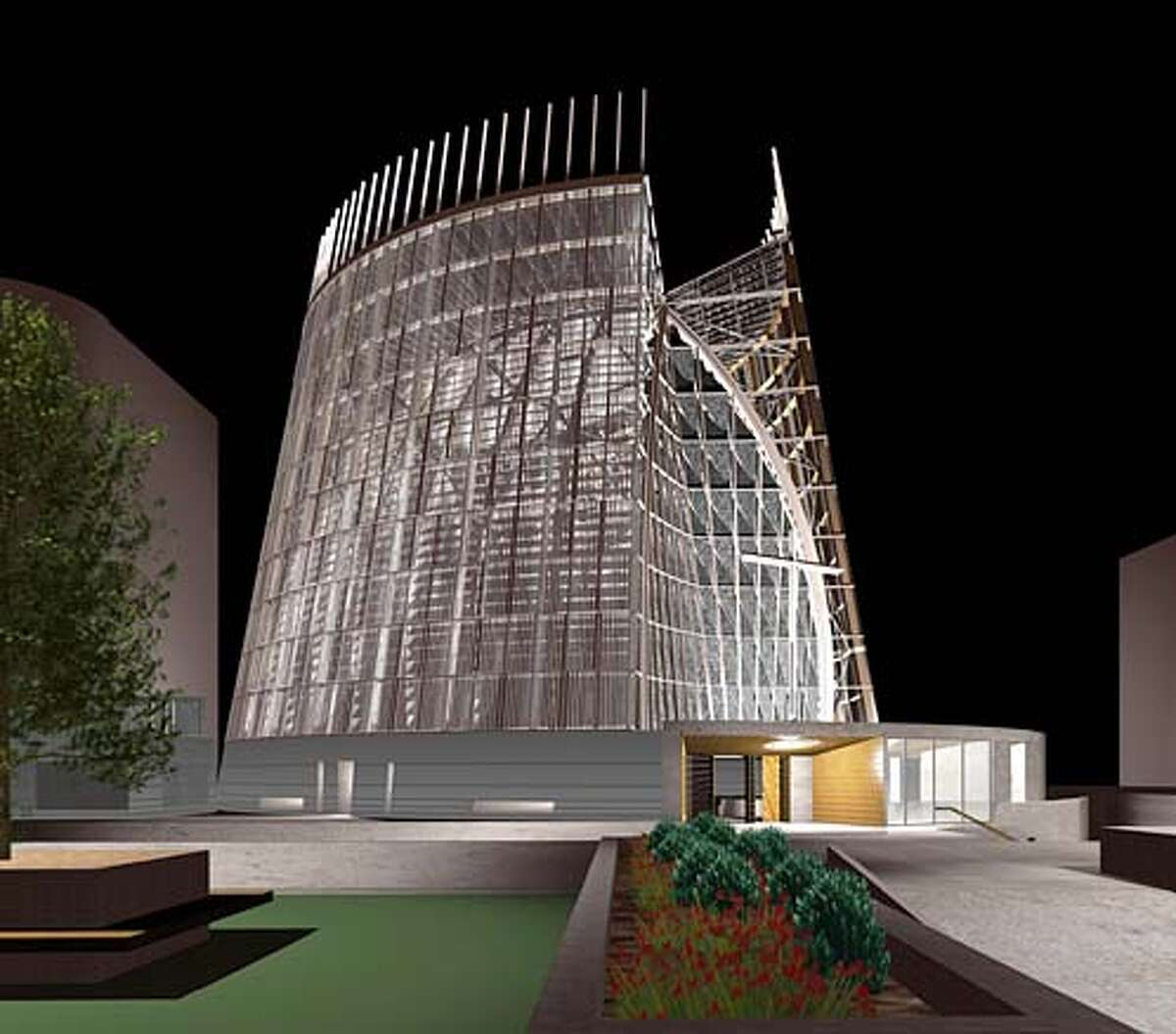 cathedraldesign22.jpg Model of design for Oakland's Christ the Light Cathedral, scheduled to open in January 2008.