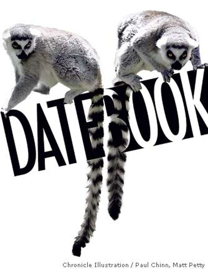 Lemurs Datebook Cover. Chronicle photo illustration by Paul Chinn and Matt Petty